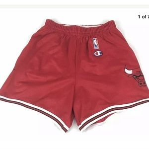 Rare Vtg CHICAGO BULLS Champion Basketball Shorts